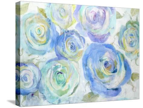 Blue Roses-Jill Martin-Stretched Canvas Print