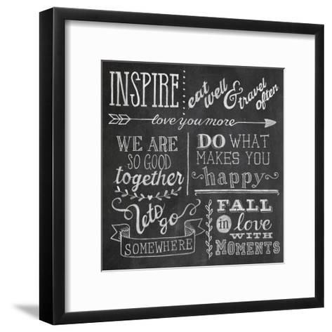 Inspiration Chalkboard III-Mary Urban-Framed Art Print