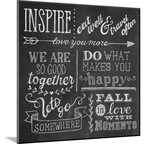 Inspiration Chalkboard III-Mary Urban-Mounted Art Print