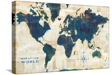 World Map Collage-Sue Schlabach-Stretched Canvas Print