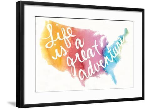 Watercolor USA-Mike Schick-Framed Art Print