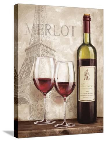 Wine in Paris III-Janelle Penner-Stretched Canvas Print