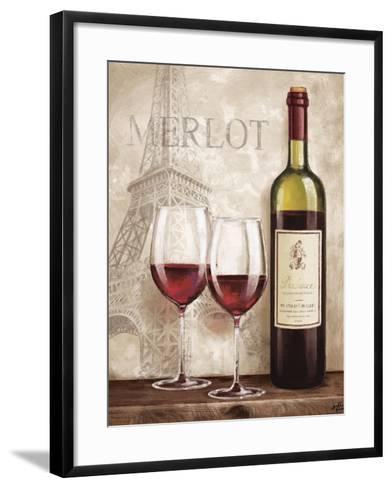 Wine in Paris III-Janelle Penner-Framed Art Print