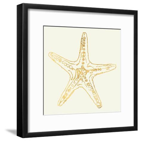 Coastal Breeze Shell Sketches VI-Anne Tavoletti-Framed Art Print