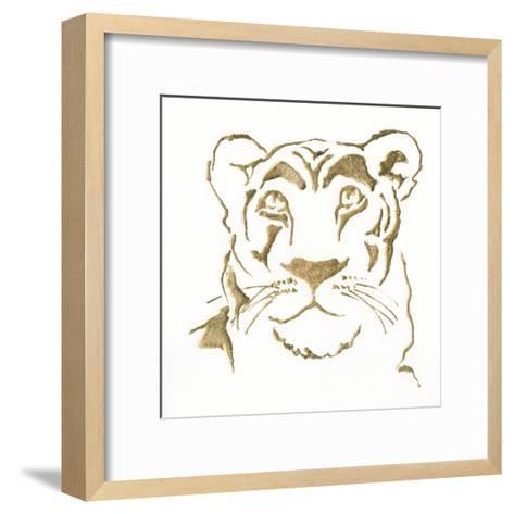 Gilded Lioness-Chris Paschke-Framed Art Print