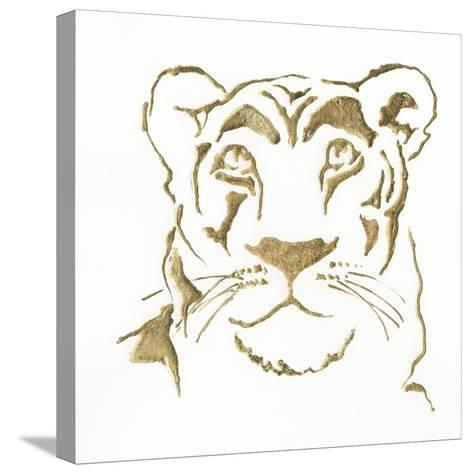 Gilded Lioness-Chris Paschke-Stretched Canvas Print