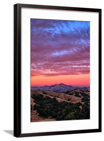Sunset Red Skies Over Mount Diablo, Walnut Creek California-Vincent James-Framed Art Print