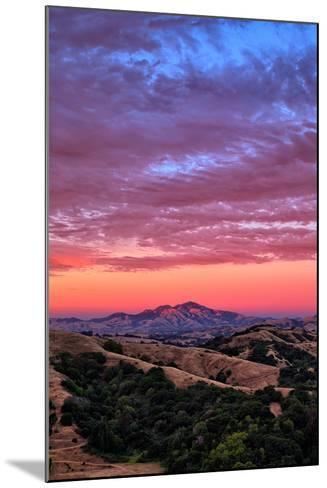 Sunset Red Skies Over Mount Diablo, Walnut Creek California-Vincent James-Mounted Photographic Print