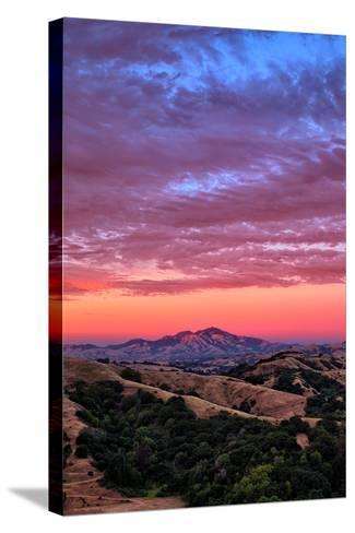 Sunset Red Skies Over Mount Diablo, Walnut Creek California-Vincent James-Stretched Canvas Print