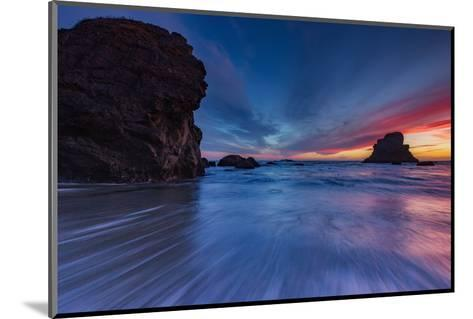 Moody Seascape After Sunset, Sonoma Coast, California-Vincent James-Mounted Photographic Print