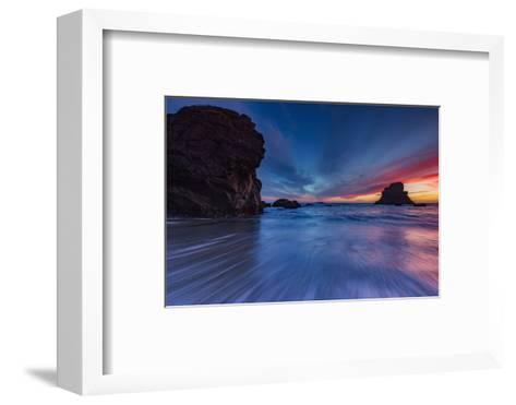 Moody Seascape After Sunset, Sonoma Coast, California-Vincent James-Framed Art Print