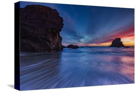 Moody Seascape After Sunset, Sonoma Coast, California-Vincent James-Stretched Canvas Print