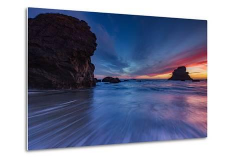 Moody Seascape After Sunset, Sonoma Coast, California-Vincent James-Metal Print