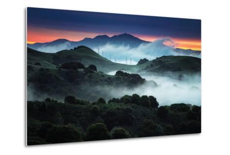 Sunrise Fog Landscape, Oakland, East Bay Hills San Francisco-Vincent James-Metal Print