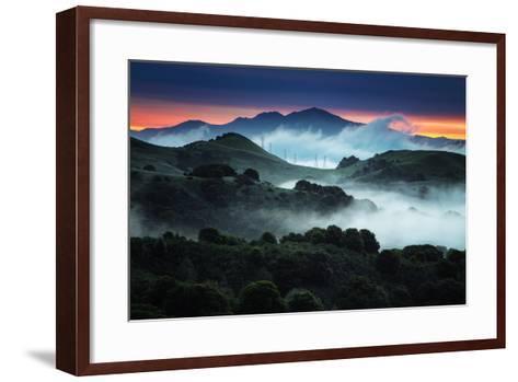 Sunrise Fog Landscape, Oakland, East Bay Hills San Francisco-Vincent James-Framed Art Print