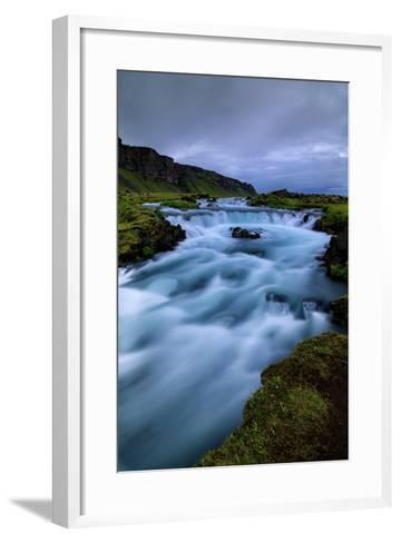Roadside Blue, Water and Sky Drama Southern Iceland Ring Road-Vincent James-Framed Art Print