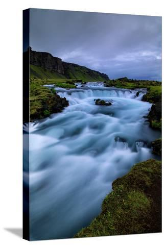 Roadside Blue, Water and Sky Drama Southern Iceland Ring Road-Vincent James-Stretched Canvas Print