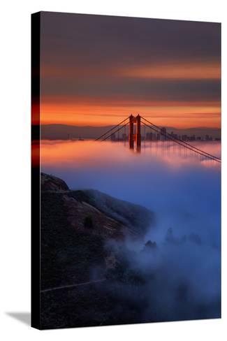 Magic Sunrise Light and Fog, Golden Gate Bridge, San Francisco-Vincent James-Stretched Canvas Print