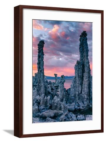 Tufa Sunrise Storm Mono Lake, Eastern Sierras, California-Vincent James-Framed Art Print