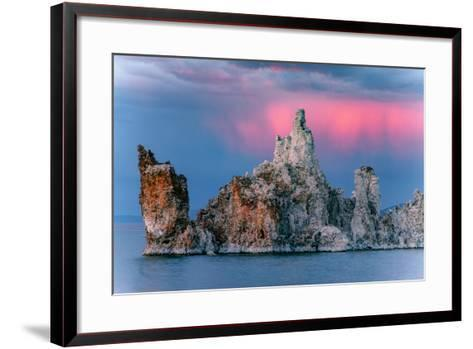 Sunrise Storm Mono Lake, Eastern Sierras, California-Vincent James-Framed Art Print