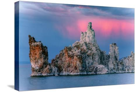Sunrise Storm Mono Lake, Eastern Sierras, California-Vincent James-Stretched Canvas Print