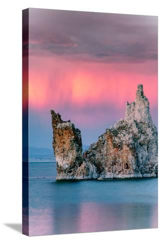 Sunrise Ship Storm Mono Lake, Eastern Sierras, California-Vincent James-Stretched Canvas Print