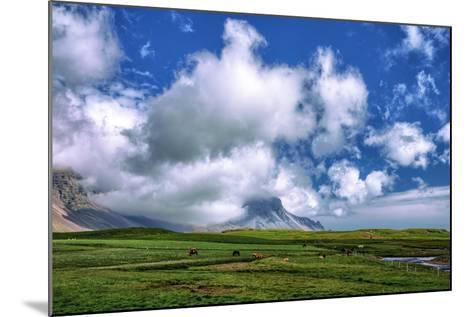 Epic Viking and Clouds Landscape, Stokknes Vestrahorn Iceland-Vincent James-Mounted Photographic Print