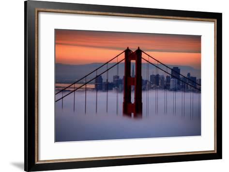North Golden Gate Tower and Transamerica Pyramid at Dawn, San Francisco-Vincent James-Framed Art Print