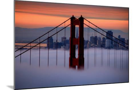 North Golden Gate Tower and Transamerica Pyramid at Dawn, San Francisco-Vincent James-Mounted Photographic Print