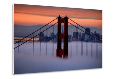 North Golden Gate Tower and Transamerica Pyramid at Dawn, San Francisco-Vincent James-Metal Print