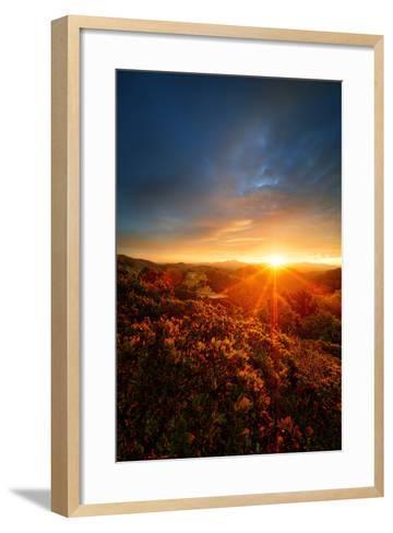 Morning Break, Sunrise and Clouds Over Mount Diablo, Oakland, Bay Area-Vincent James-Framed Art Print