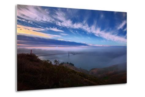 Ethereal Entrance to the Bay, Golden Gate, San Francisco California-Vincent James-Metal Print