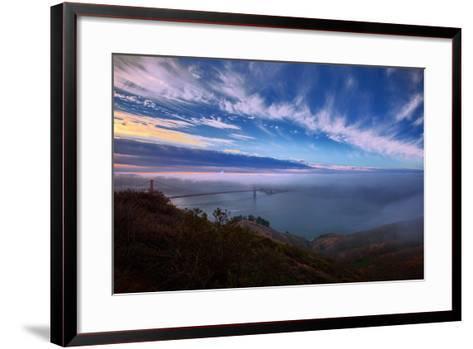 Ethereal Entrance to the Bay, Golden Gate, San Francisco California-Vincent James-Framed Art Print