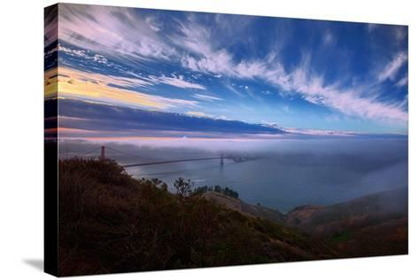 Ethereal Entrance to the Bay, Golden Gate, San Francisco California-Vincent James-Stretched Canvas Print