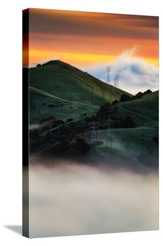 East Bay Hills and Moody Fog, Bay Area Oakland California-Vincent James-Stretched Canvas Print