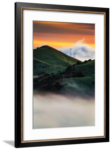 East Bay Hills and Moody Fog, Bay Area Oakland California-Vincent James-Framed Art Print