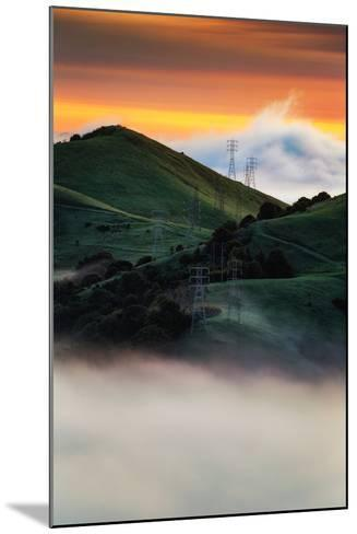 East Bay Hills and Moody Fog, Bay Area Oakland California-Vincent James-Mounted Photographic Print