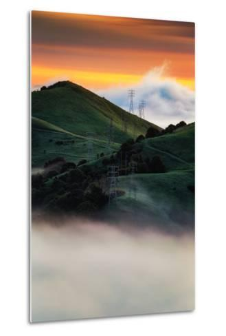 East Bay Hills and Moody Fog, Bay Area Oakland California-Vincent James-Metal Print