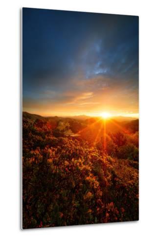 Morning Break, Sunrise and Clouds Over Mount Diablo, Oakland, Bay Area-Vincent James-Metal Print
