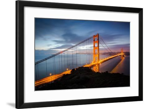 Classic Good Morning View Golden Gate Bridge San Francisco-Vincent James-Framed Art Print