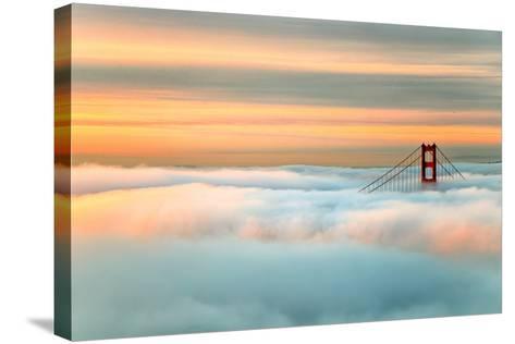 Above The Golden Gate Sunrise Fog, San Francisco-Vincent James-Stretched Canvas Print