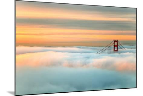 Above The Golden Gate Sunrise Fog, San Francisco-Vincent James-Mounted Photographic Print