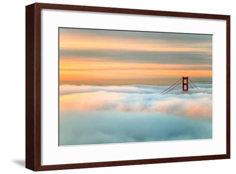 Above The Golden Gate Sunrise Fog, San Francisco-Vincent James-Framed Art Print
