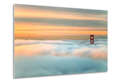 Above The Golden Gate Sunrise Fog, San Francisco-Vincent James-Metal Print