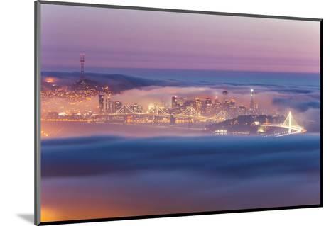 Encased, Fog Surrounding San Francisco Epic Cityscape Urban Globe-Vincent James-Mounted Photographic Print