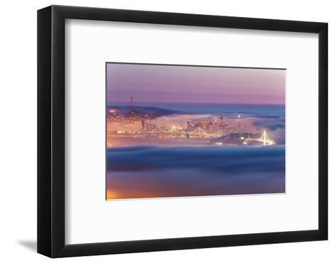 Encased, Fog Surrounding San Francisco Epic Cityscape Urban Globe-Vincent James-Framed Art Print