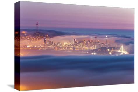 Encased, Fog Surrounding San Francisco Epic Cityscape Urban Globe-Vincent James-Stretched Canvas Print