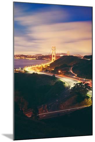 Pre Dawn East Side of Beautiful Golden Gate Bridge, San Francisco Cityscape-Vincent James-Mounted Photographic Print