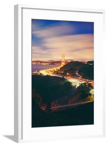 Pre Dawn East Side of Beautiful Golden Gate Bridge, San Francisco Cityscape-Vincent James-Framed Art Print