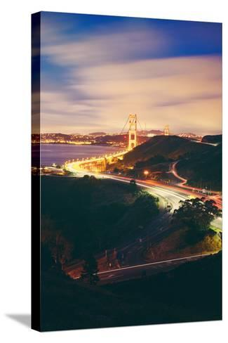 Pre Dawn East Side of Beautiful Golden Gate Bridge, San Francisco Cityscape-Vincent James-Stretched Canvas Print